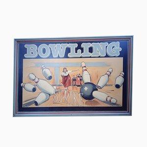 Insegna vintage di un bowling, anni '40