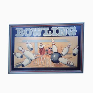 Vintage Bowling Sign, 1940s