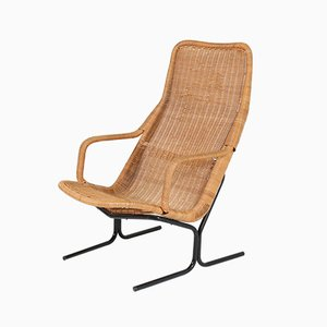 Mid-Century Modern 514 Wicker Lounge Chair by Dirk van Sliedrecht for Rohé, 1961