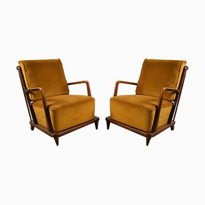 Armchairs by Svante Skogh for Förenade Möbelfabrikerna Linköping, 1950s, Set of 2