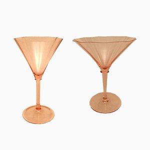 Jarrones de cristal de Murano de Venini, años 30. Juego de 12
