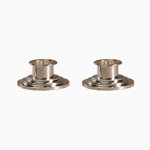 Art Deco Silver Candleholders by Holger Fridericias, Set of 2