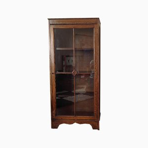 Wood and Glass Display Cabinet, 1930s