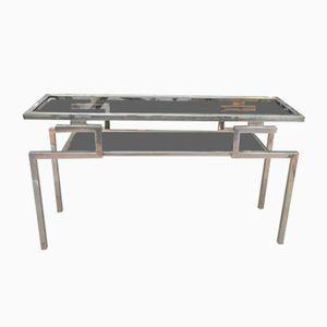 Table Console en Verre par Guy Lefevre pour Maison Jansen, 1970s