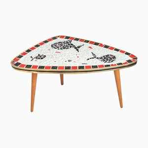 Mid-Century German Mosaic Kidney Table, 1960s