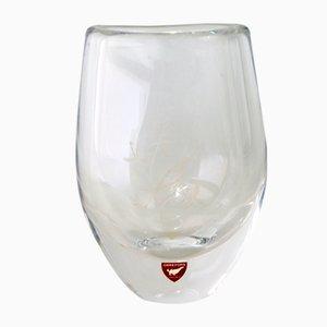 Vase aus geätztem Glas von Sven Palmqvist für Orrefors, 1960er