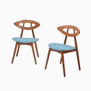 Eye Chairs by Ejvind A Johansson for Ivan Gern, Set of 6, 1961
