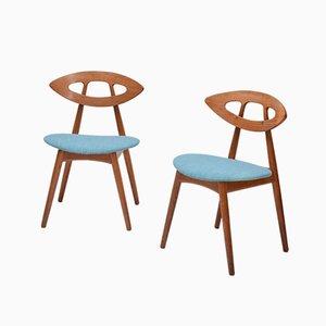 Eye Stühle von Ejvind A Johansson für Ivan Gern, 6er Set, 1961