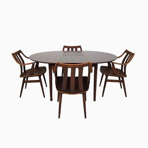 Mid-Century Dutch Rosewood Dining Room Set, 1960s
