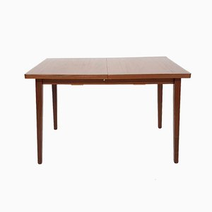 Vintage Dutch Teak Extendable Dining Table, 1960s