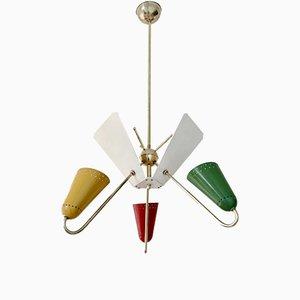 Lámpara de araña francesa vintage de Kobis & Lorence, años 50