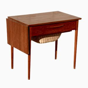 Mid-Century Danish Teak Sewing Table, 1960s