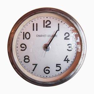 Orologio vintage industriale di Charvet-Delorme, anni '50