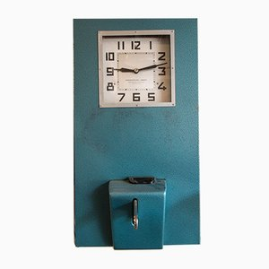 Reloj de fichar vintage de Lambert, 1978