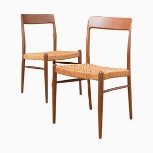 Chaises de Salon Modèle 77 Vintage par N. O. Møller pour J.L. Møllers, Set de 2