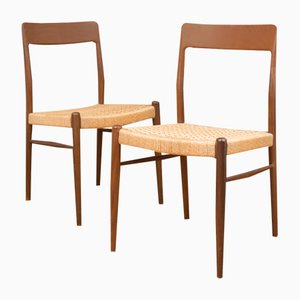 Model 77 Dining Chairs by N. O. Møller for J.L. Møllers, 1959, Set of 2