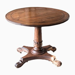 19th-Century Walnut Pedestal Table