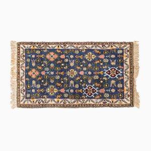 Alfombra bereber de lana azul, años 50