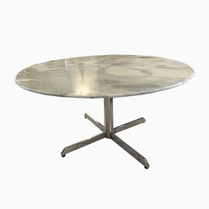 French Marble Dining Table by Florence Knoll Bassett for Roche Bobois, 1970s