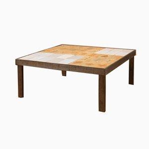 Tavolino da caffè Garrigue quadrato di Roger Capron, anni '60