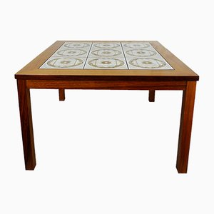 Teak Table with Ceramic Tiles, 1974