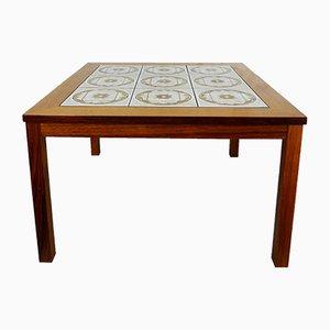 Teak Table with Ceramic Tiles, 1974