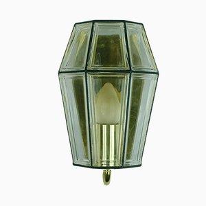 Lampada da parete di Glashutte Limburg, anni '60