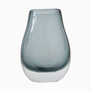 Grey Glass Vase by Per Lütken for Holmegaard, 1970s