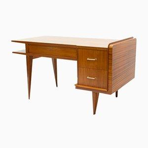 Italienischer Schreibtisch aus Teak & Sapeli, 1950er