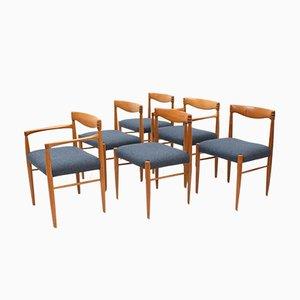 Sedie da pranzo in teak di H.W. Klein per Bramin, Danimarca, anni '60, set di 6