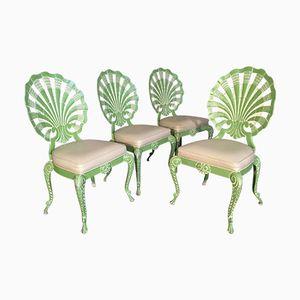Grotto Stühle mit Rückenlehne in Muschel-Optik von Brown Jordan, 1970er, 4er Set