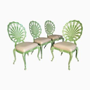 Shell Back Grotto Chairs by Brown Jordan, 1970s, Set of 4