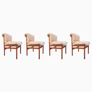Mid-Century Stühle aus Teak von White & Newton, 4er Set