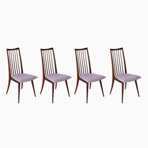 Moderne skandinavische Esszimmerstühle, 1950er, 4er Set