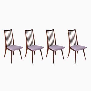 Scandinavian Modern Dining Chairs, 1950s, Set of 4