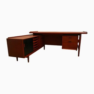 Scandinavian Teak Desk by Arne Vodder for Sibast, 1950s