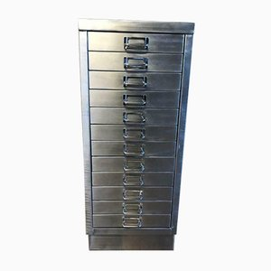 Industrial Metal Filing Cabinet with 12 Drawers, 1980s