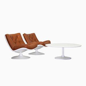 Vintage Tisch und 2 Modell F976 Sessel von Artifort