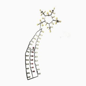 Lámpara de pared en forma de estrella fugaz, años 50
