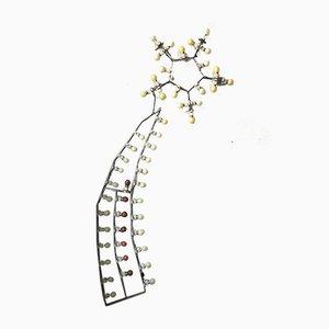 Wandlampe in Sternschnuppen-Optik, 1950er