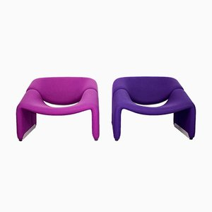 F598 Groovy Chairs by Pierre Paulin for Artifort, 1980s, Set of 2