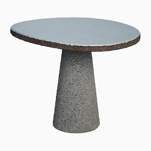 ETNASTONE Guéridon I Table with Hand Carved Base by Emmanuel Babled