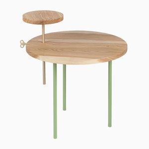 Tavolino da caffè ETTORE verde pallido di Leonardo Fortino per Formae