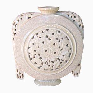 Französische Vintage Vase von Faïenceries de Longwy