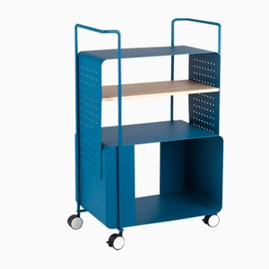 ENGIOI Blue RAL 5009 Trolley by Lucio Curcio & Luca Binagnlia for Formae