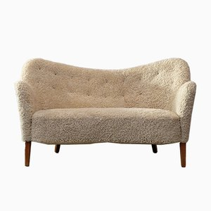 Sheepskin Settee by Finn Juhl for Carl Brorup, 1940s