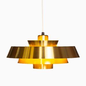 Lampe à Suspension Vintage en Laiton par Jo Hammerborg pour Fog & Mørup