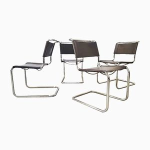 S33 Dining Chairs by Mart Stam for Thonet, 1980s, Set of 4
