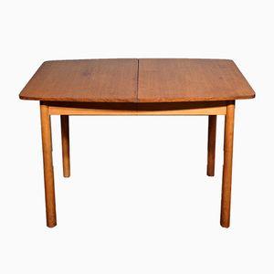 Tavolo da pranzo allungabile Mid-Century in teak, anni '60