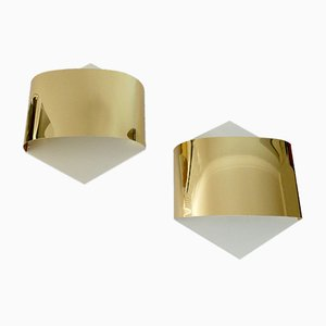 Golden Sconces by Rolf Krüger & Dieter Witte for Staff, 1960s, Set of 2